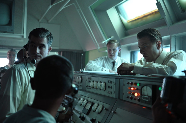 "Wernher von Braun (played here by Sacha Seberg) oversees the launch of a Mercury-Redstone rocket in the television adaptation of ""The Right Stuff."" (Credit: NatGeo/Gene Page)"