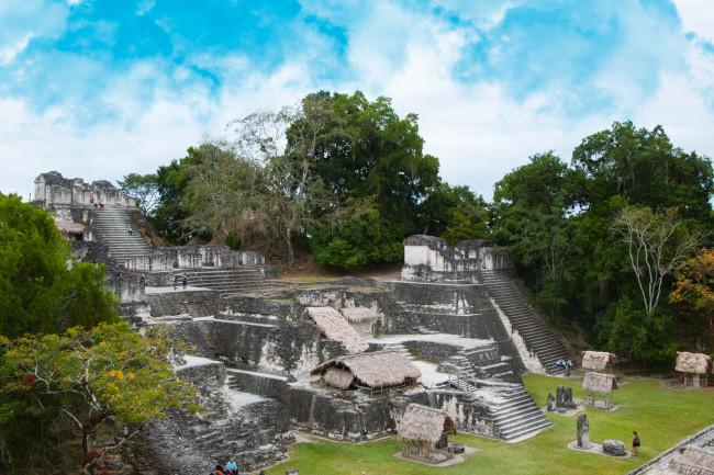 Maya ruins in Tikal, Guatemala