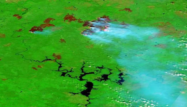 Sakha Republic Wildfires on Aug. 18, 2020