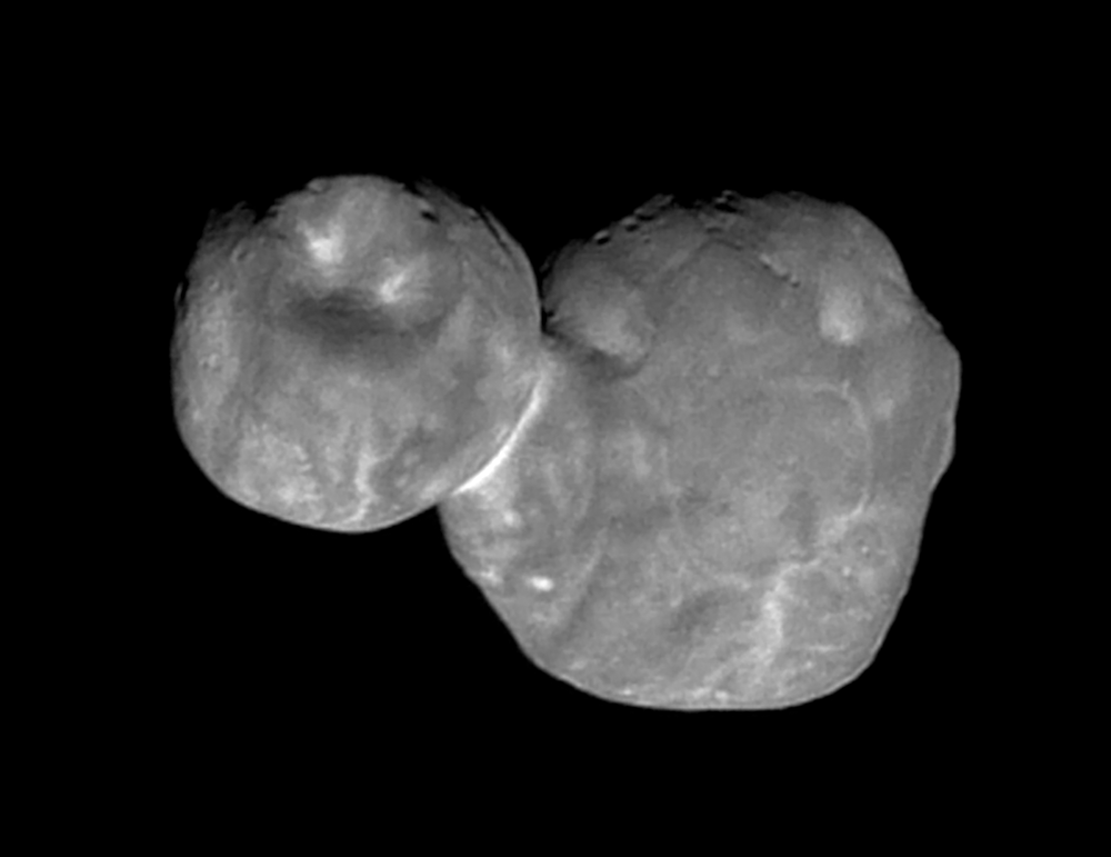 A view of MU69 during New Horizon's flyby on January 1, 2019. NASA.