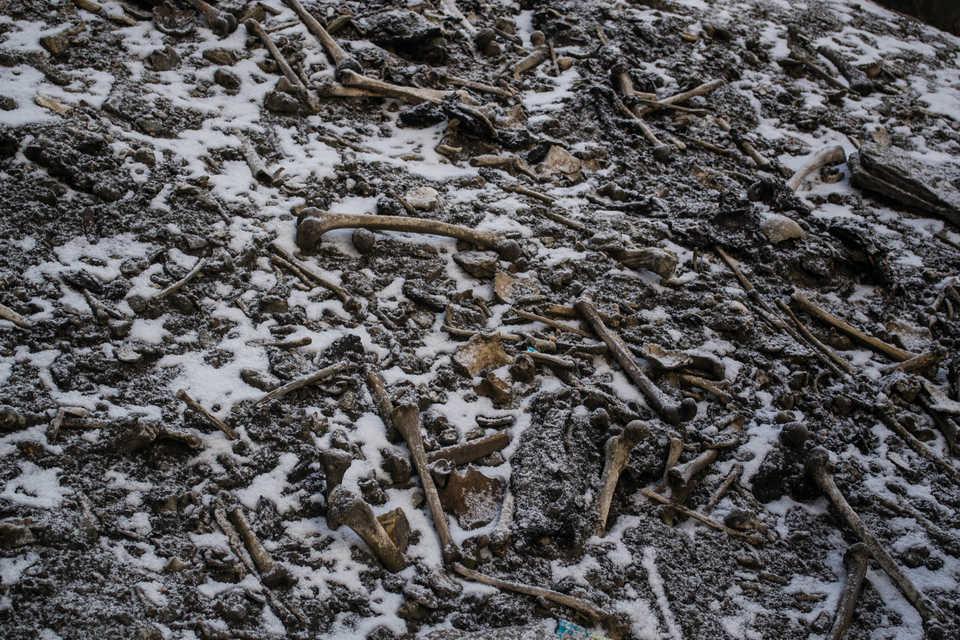 alpine lake human bones