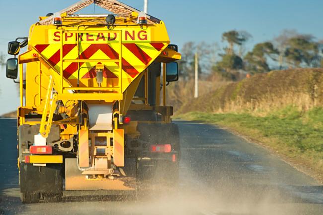 road-salt truck