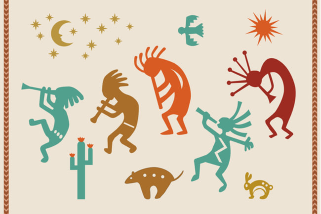 Modern Kokopelli Collage - Shutterstock