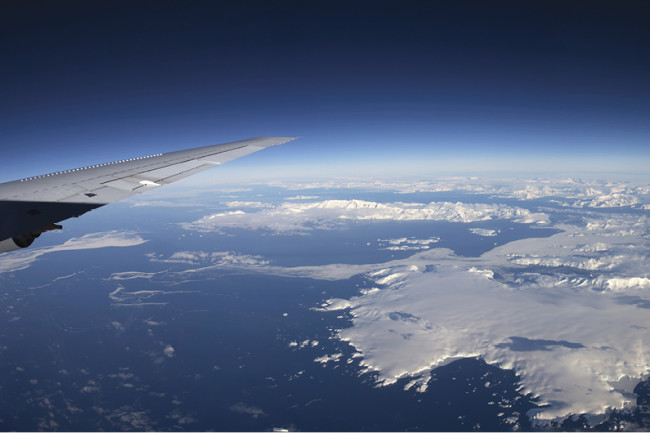 DC-8 over Antarctica - Harbeck
