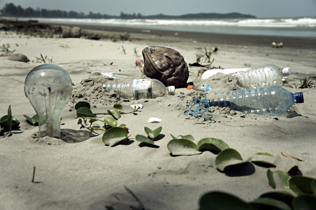 Plastic Trash on Beach - Wikimedia Commons