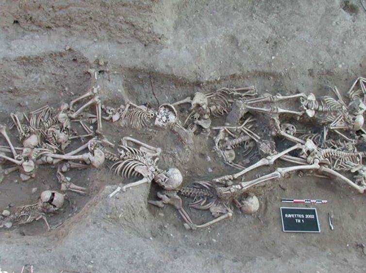 plague victims grave