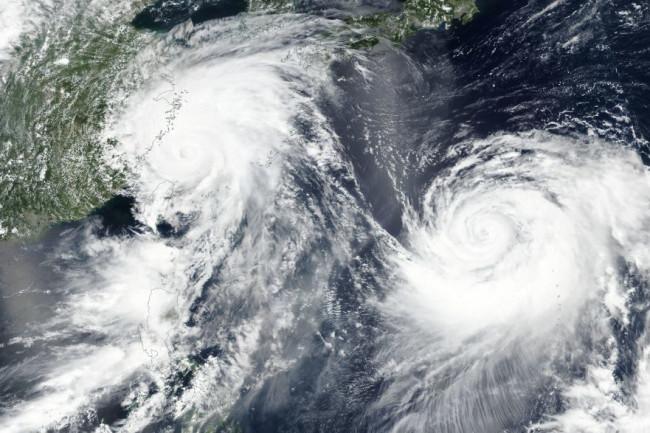 Typhoons Lekima & Krosa - NASA