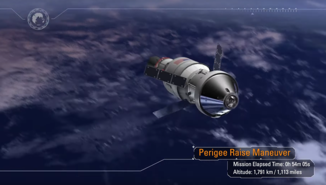 NASA's Aremis I mission is just CGI for now. All going well, it will soon be a real precursor flight to a human return to the Moon. (Credit: NASA)