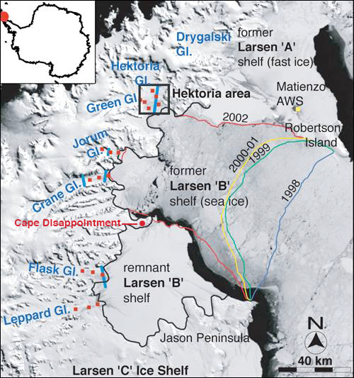 Larsen B Collapse - Scambos et al 2004