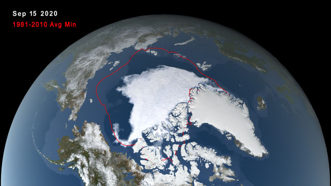Arctic Sea Ice Minimum Sept. 15, 2020