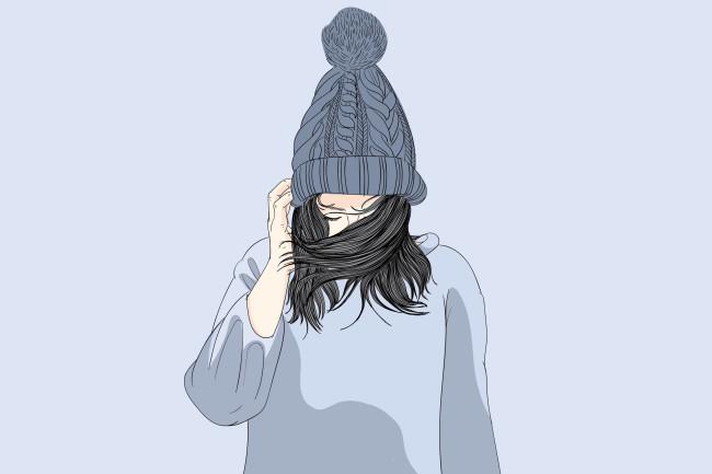 winter hat sad depression seasonal affective disorder mental health - shutterstock