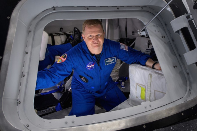 Eric Boe in Boeing capsule - NASA