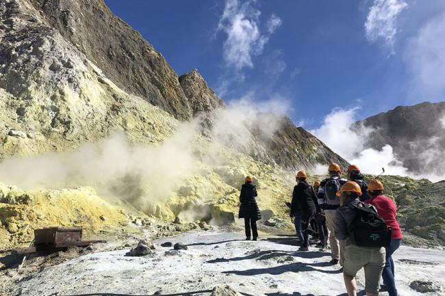 Tourists Visiting Whakaari (White Island)