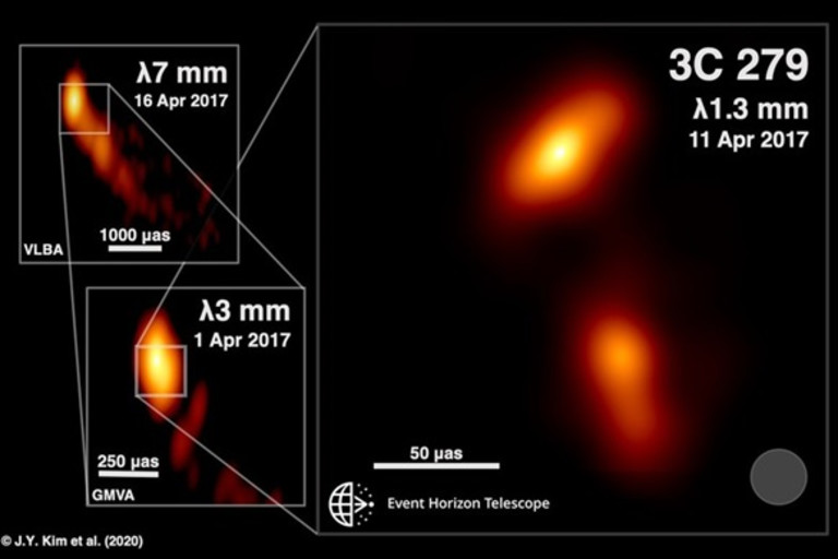 Event Horizon Telescope Looks Into a Black Hole's Jet