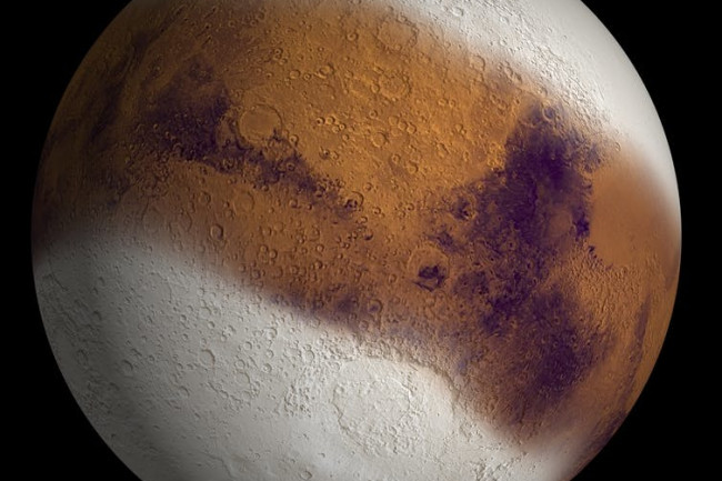 Mars Ice Age NASA JPL