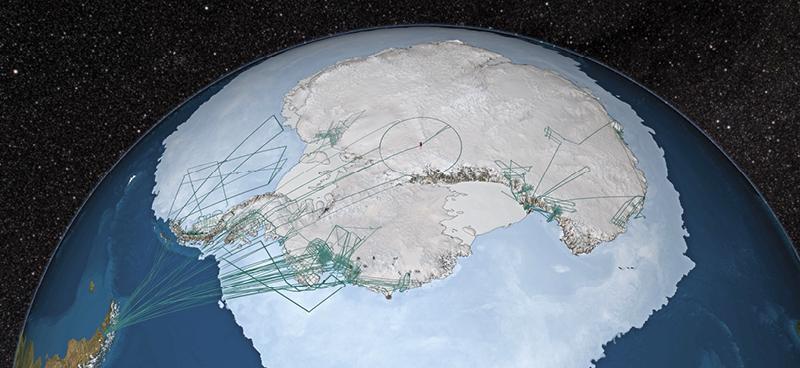 IceBridge flight paths - NASA