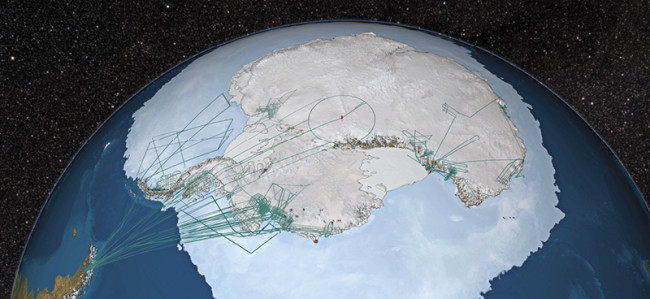 IceBridge flight paths - NASA