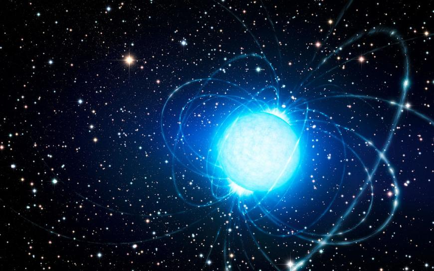 An artist's impression of a magnetar. (Credit: ESO/L. Calçada/Wikipedia (CC BY 4.0))