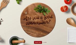 Online Food Quiz Template