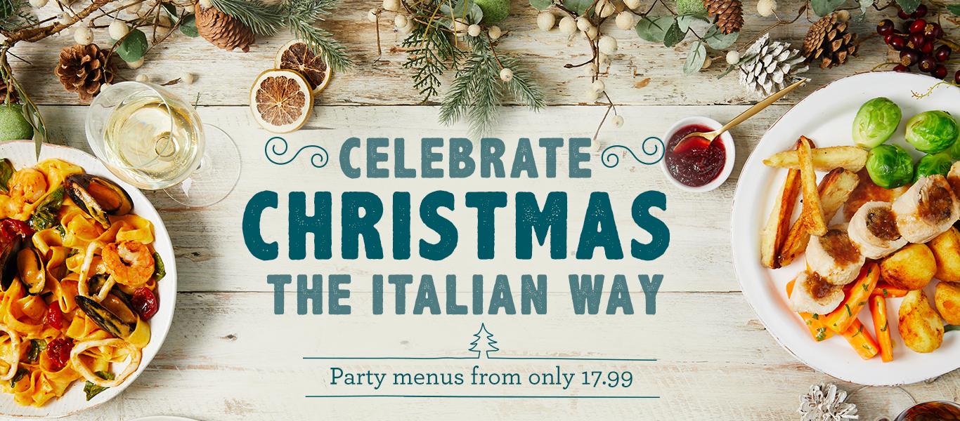 Celebrate christmas the italian way at Bella Italia, with party menus from just £17.99