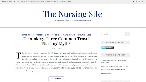 The Nursing Site Homepage