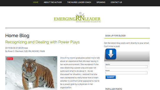 Emerging RN Leader Homepage