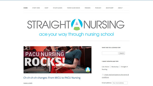 Straight A Nursing Homepage