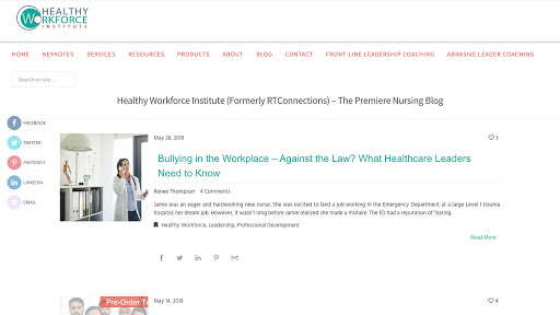 Healthy Workforce Institute Homepage