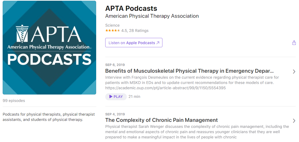 APTA Podcasts Screenshot