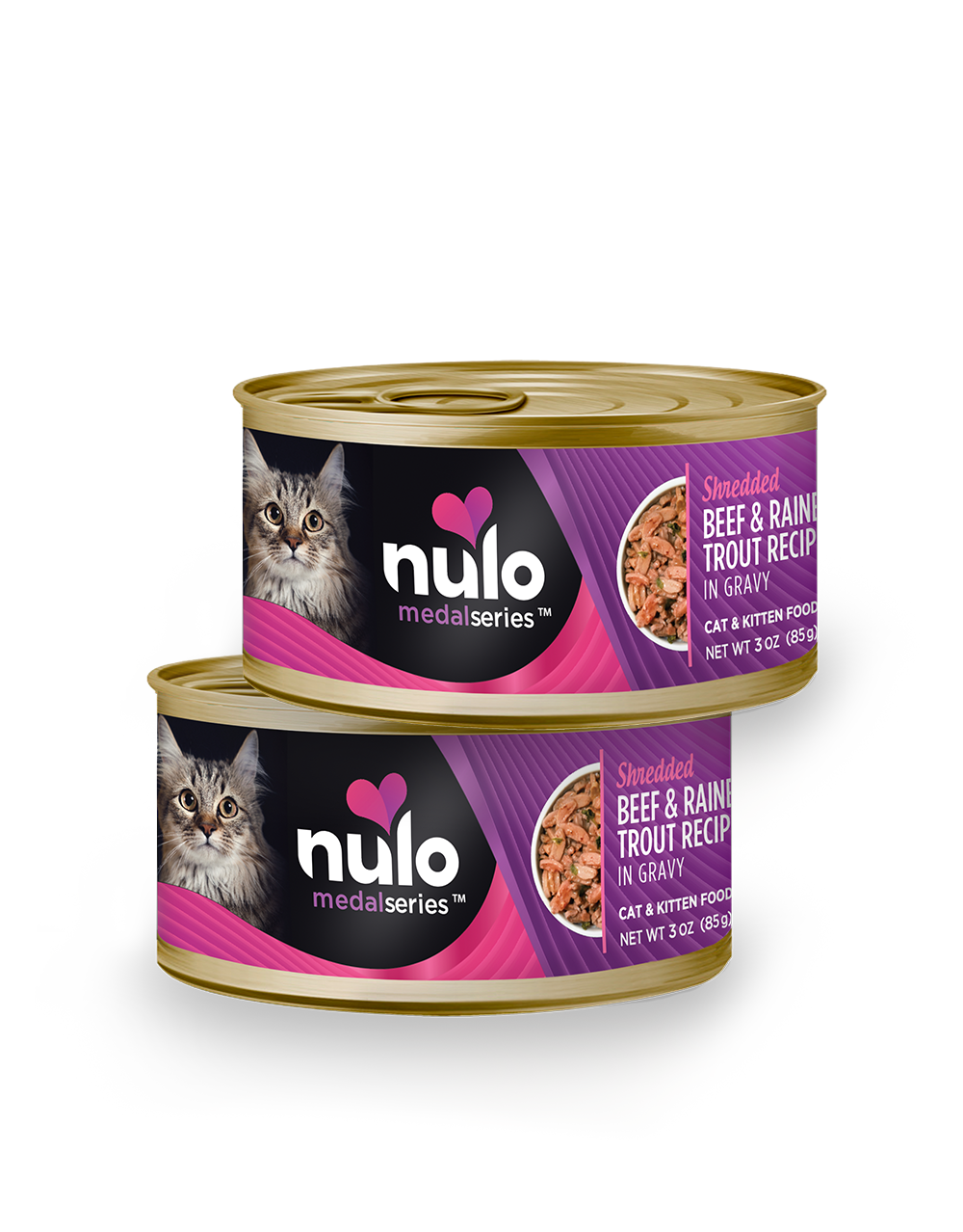Nulo medalseries 3oz cat cans Beef&RainbowTrout