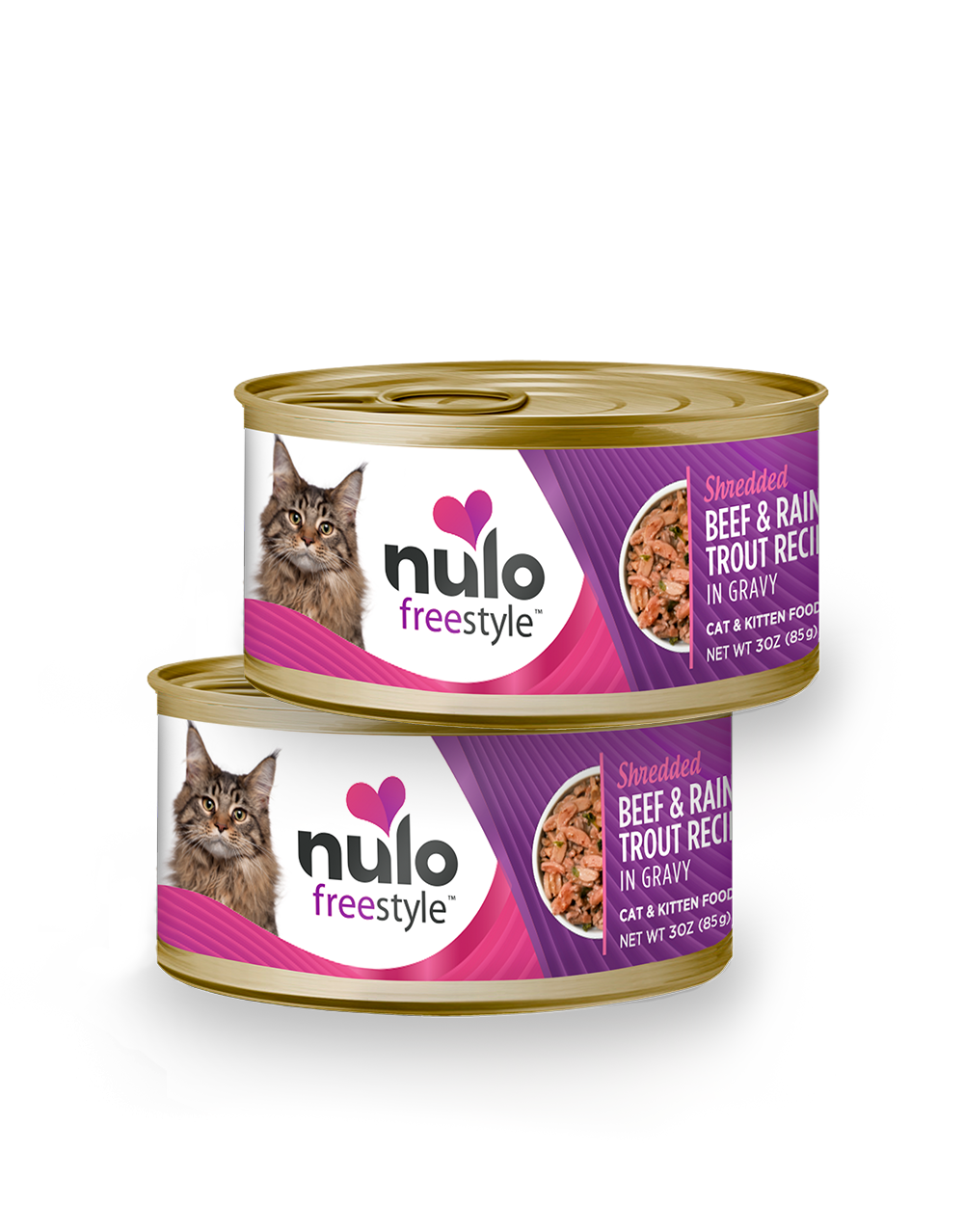 Nulo freestyle 3oz cat cans Beef&RainbowTrout