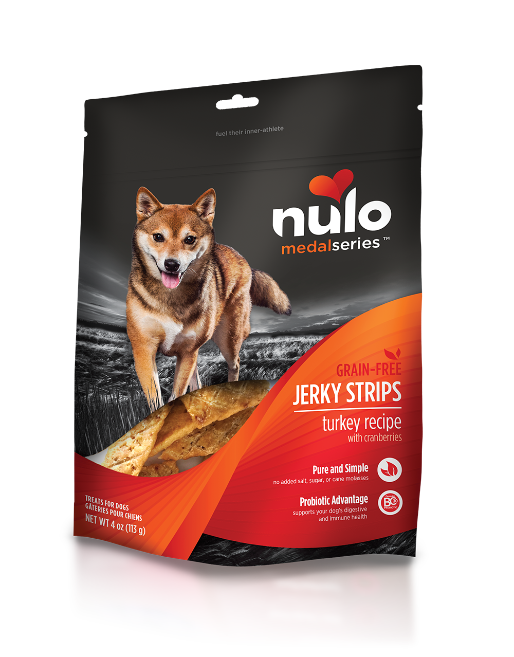 Nulo medalseries jerkytreats turkey
