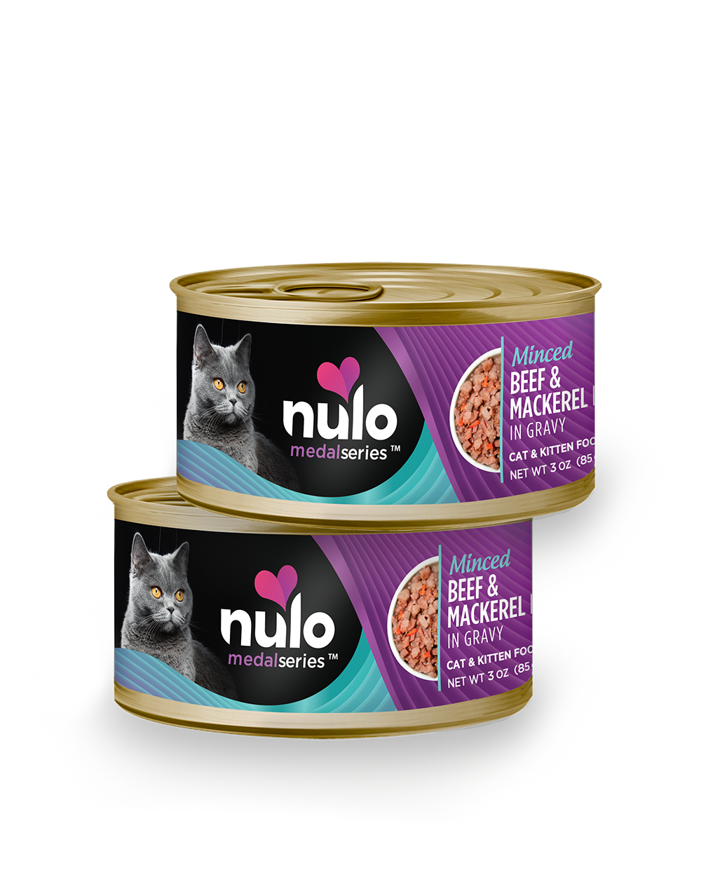 Nulo medalseries 3oz cat cans Beef&Mackerel