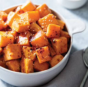 Miso-Roasted Sweet Potatoes