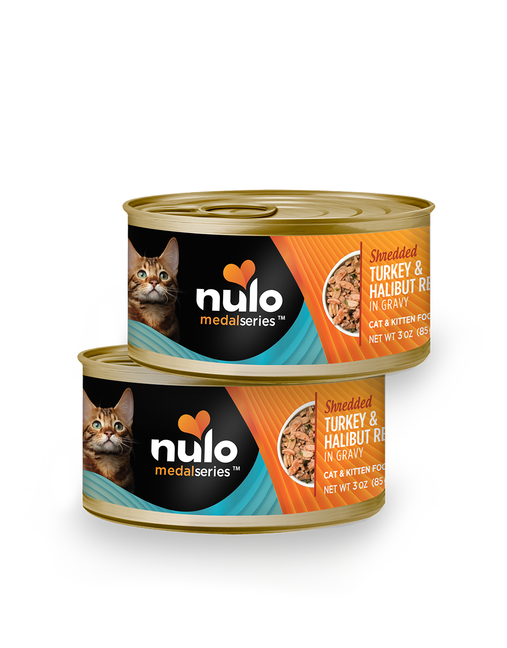 Nulo medalseries 3oz cat cans Turkey&Halibut