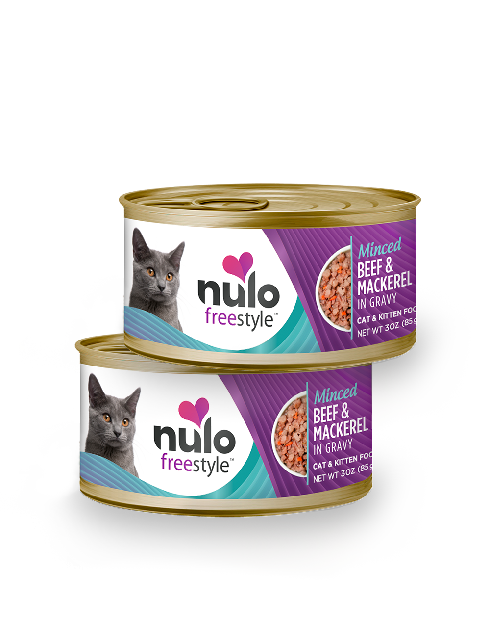 Nulo freestyle 3oz cat cans Beef&Mackerel