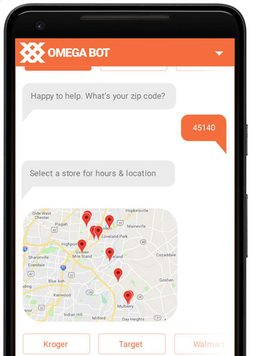 example of customer service chatbot
