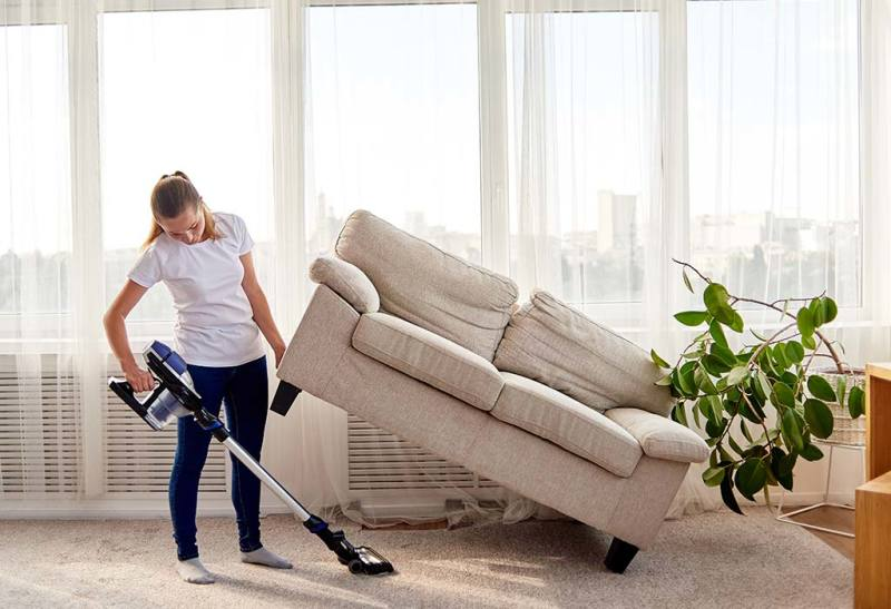 cleaning your living room