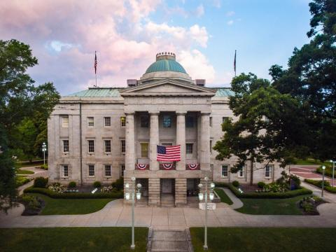 The North Carolina State Capitol Building is a beautiful historic building located in the Capital of Raleigh