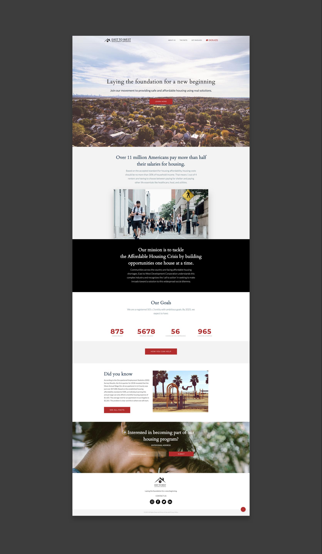 ETWDC Homepage, long scroll