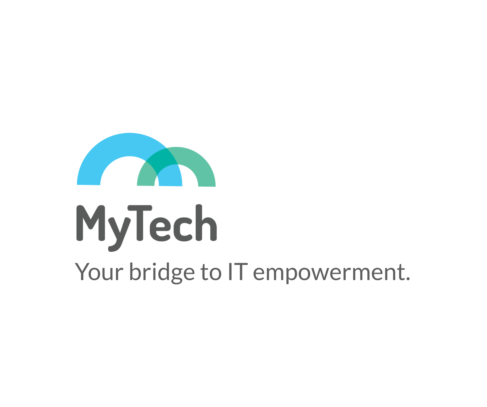 MyTech logo and tagline. Your bridge to IT empowerment.