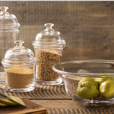 Jars and serving platters