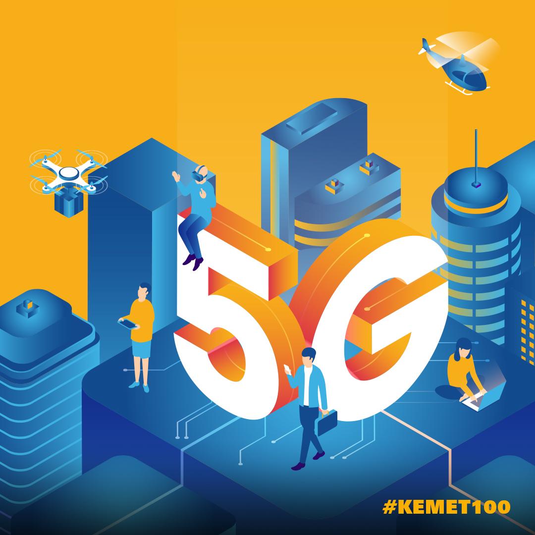 Illustration showing 5G