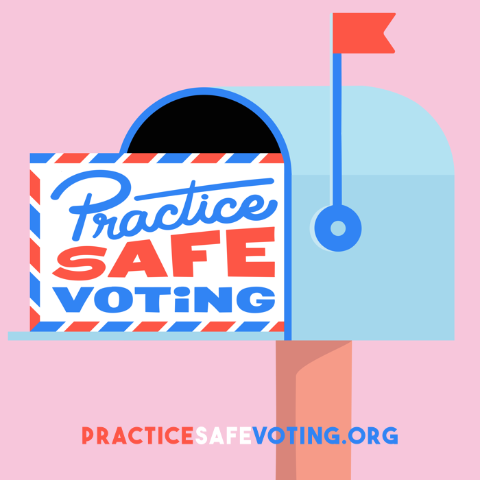 Practice Safe voting mailbox with letter inside