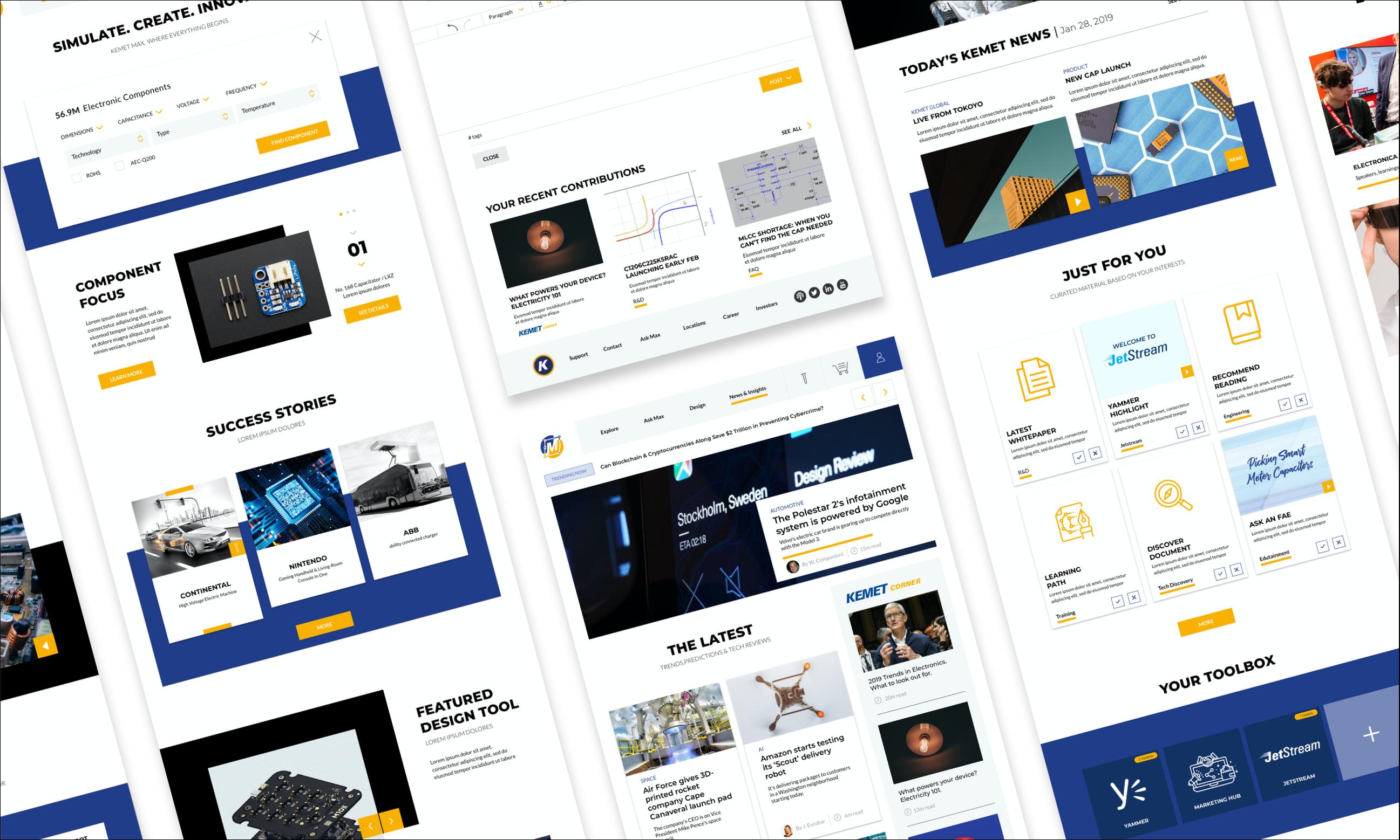 Compilation of KEMET Max Desktop prototype designs