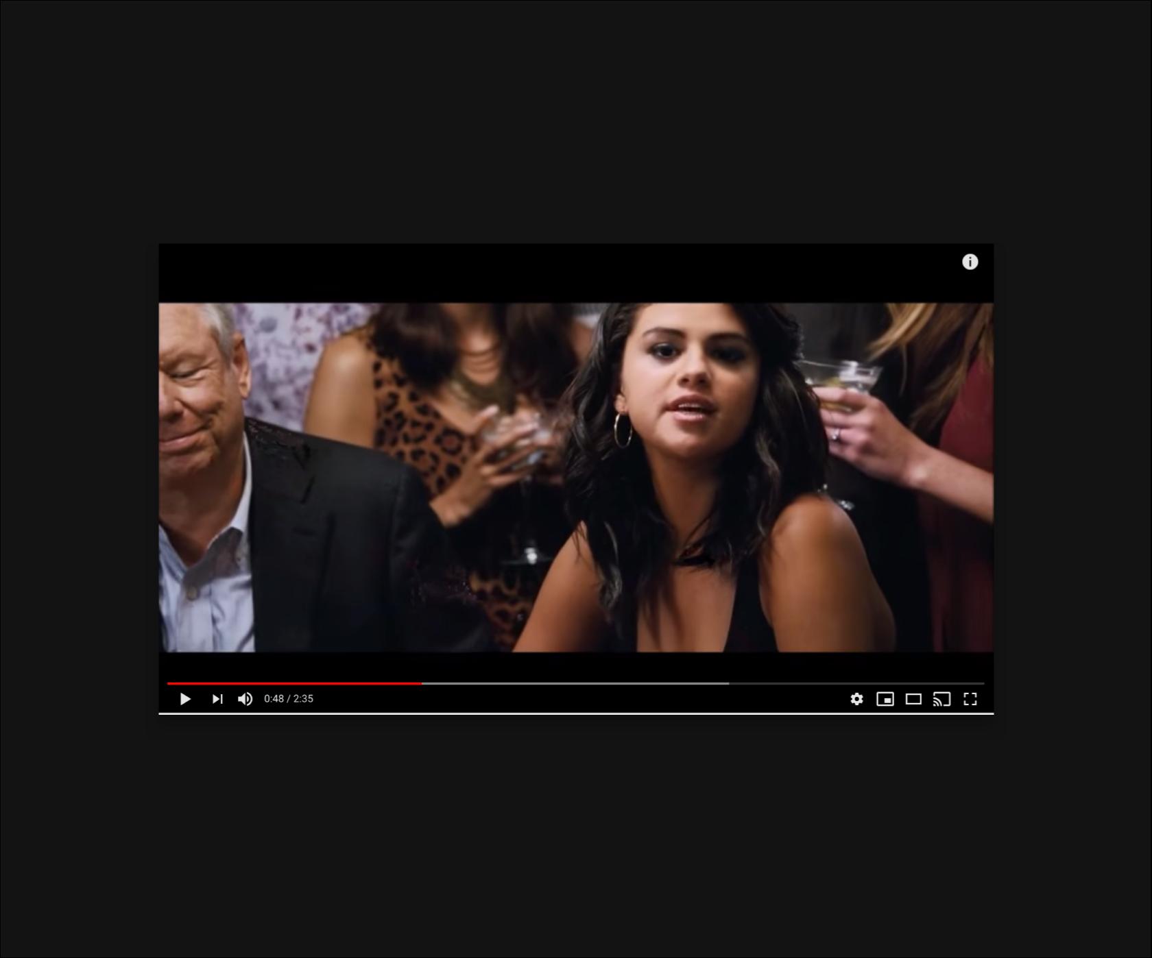 Video screenshot of Selena Gomez explaining something in a simple way.