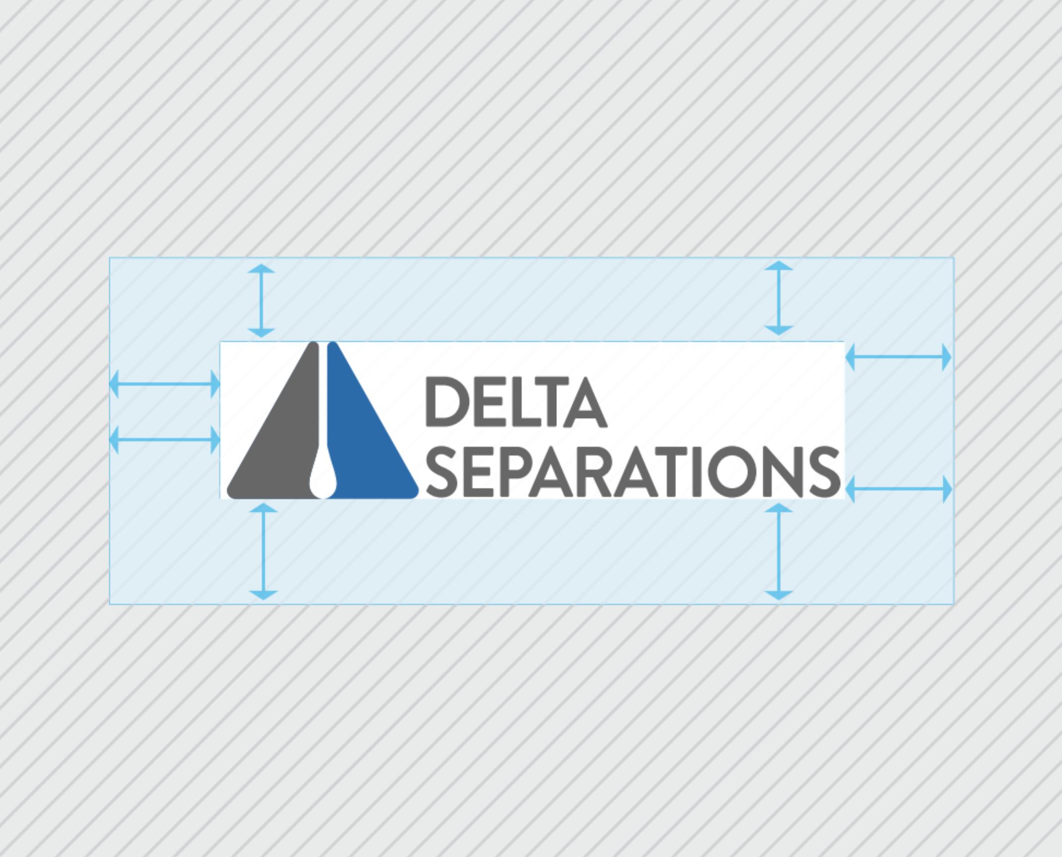 delta logo showing crop marks