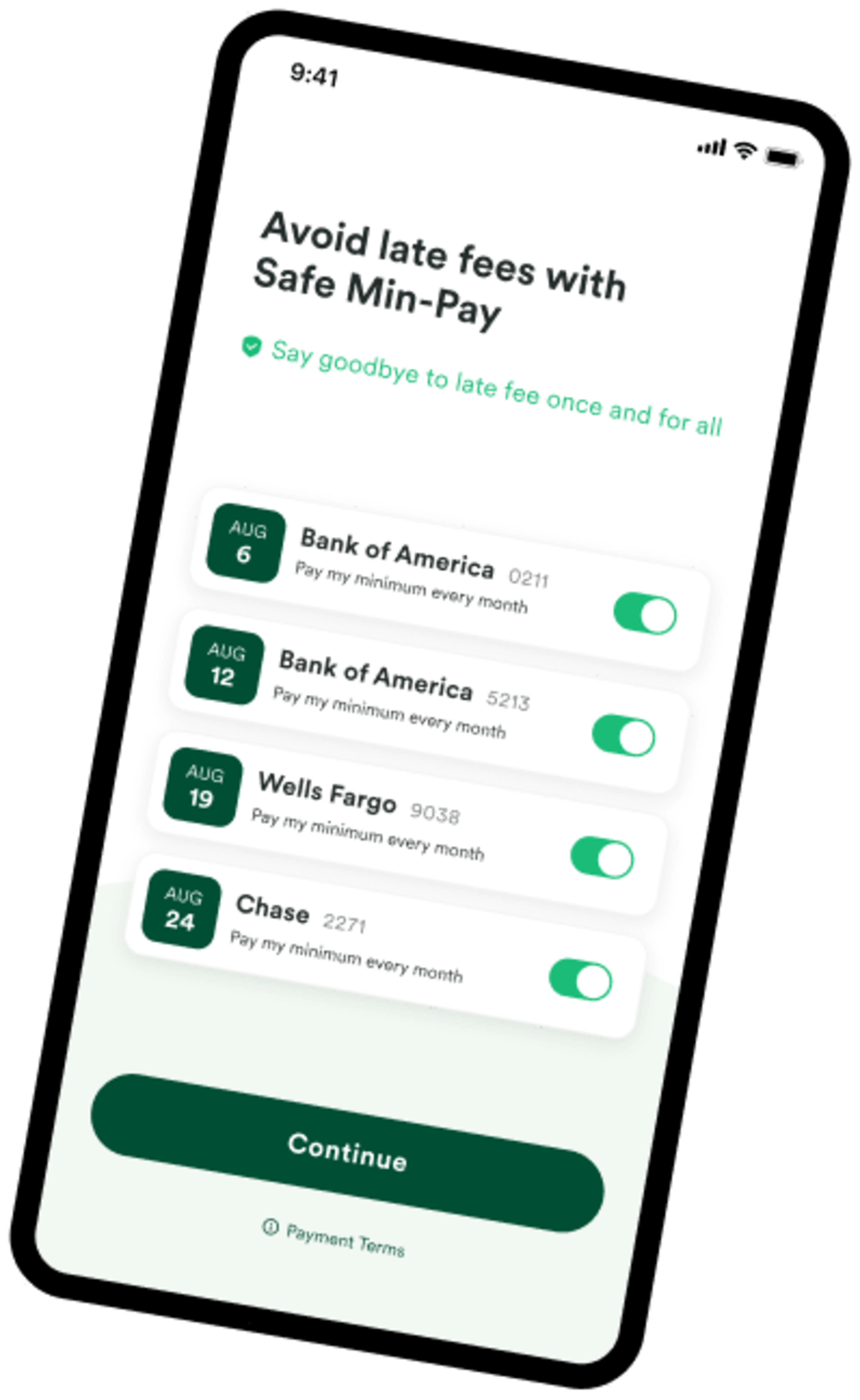 Tally can protect you from late fees