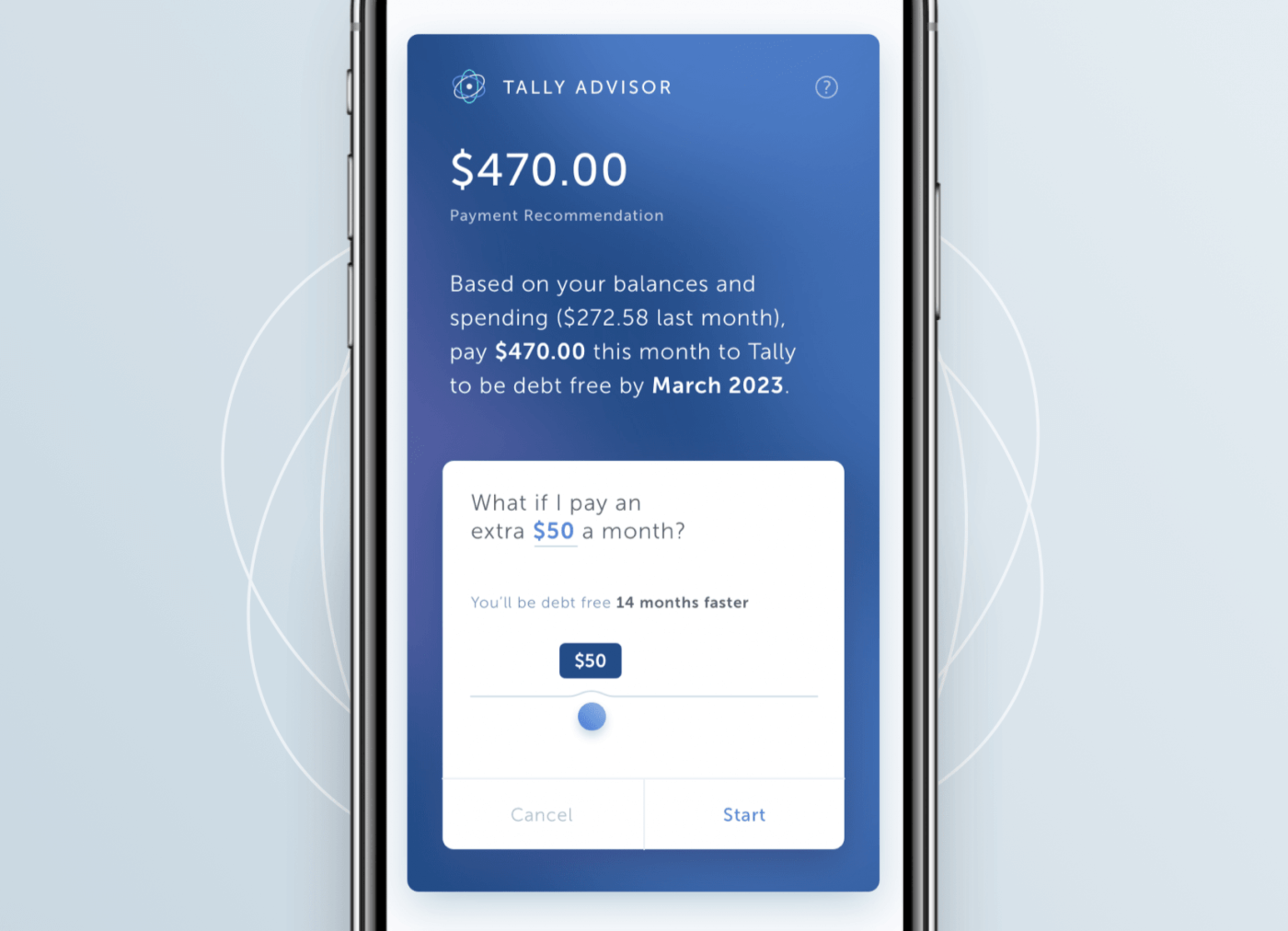Tally robo advisor, debt manager app