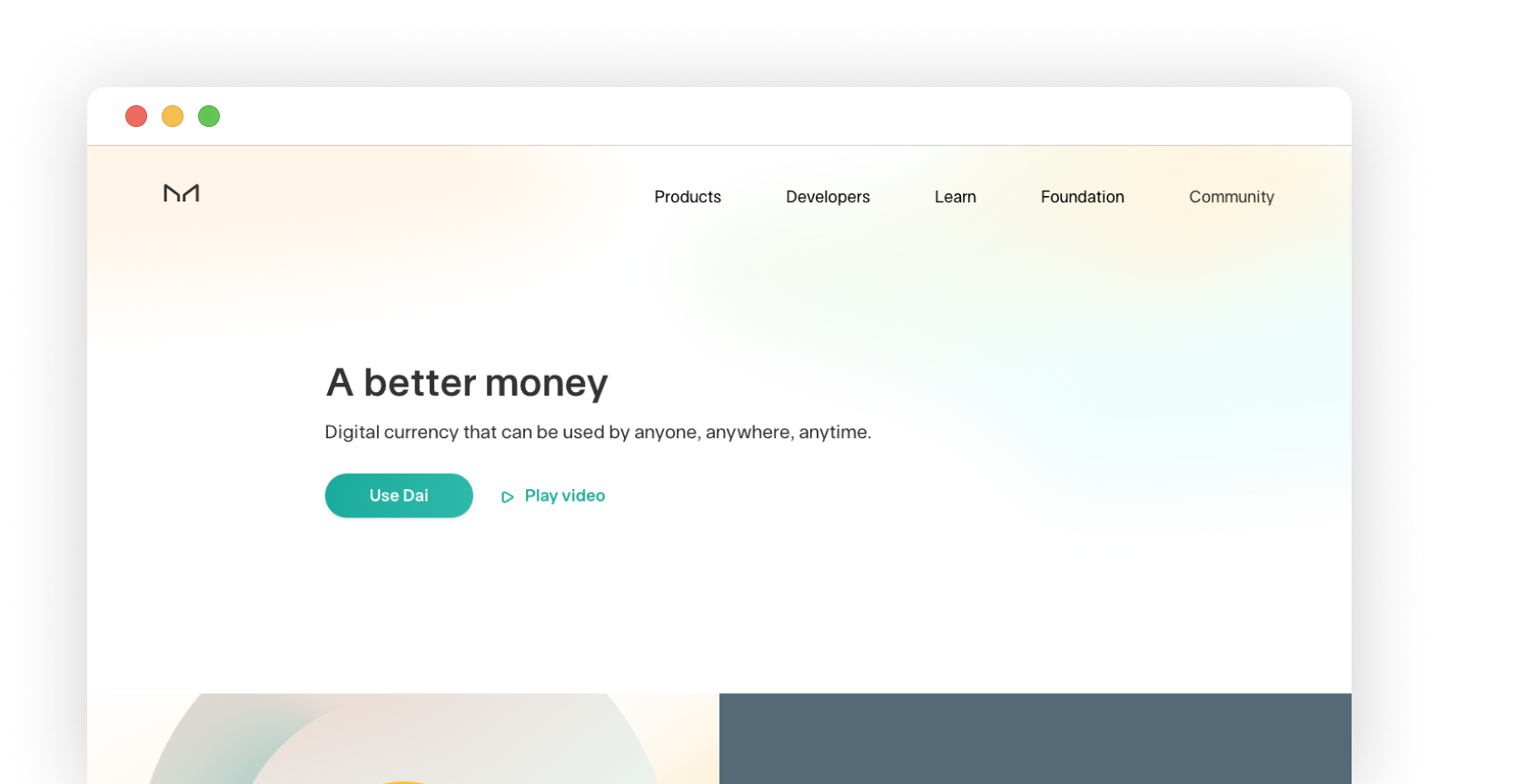 Home page of the Maker project webpage